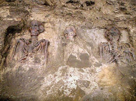 Lappeenrannan Huhtiniemen joukkohaudat liittyvät 1800-luvun ortodoksiseen sotilashautausmaahan. Joukkohautojen vainajat voivat olla kulkutautien uhreja.