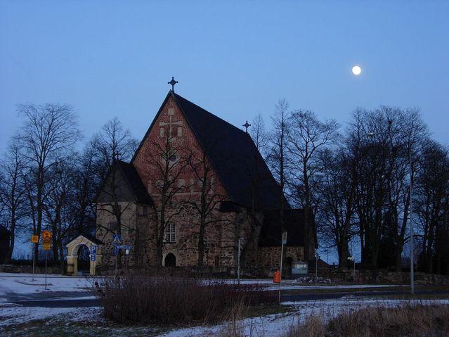 Maarian kirkko on rakennettu 1400-luvulla varhaisempien puukirkkojen paikalle. Kuva: Samuli Lintula/Wikimedia Commons.