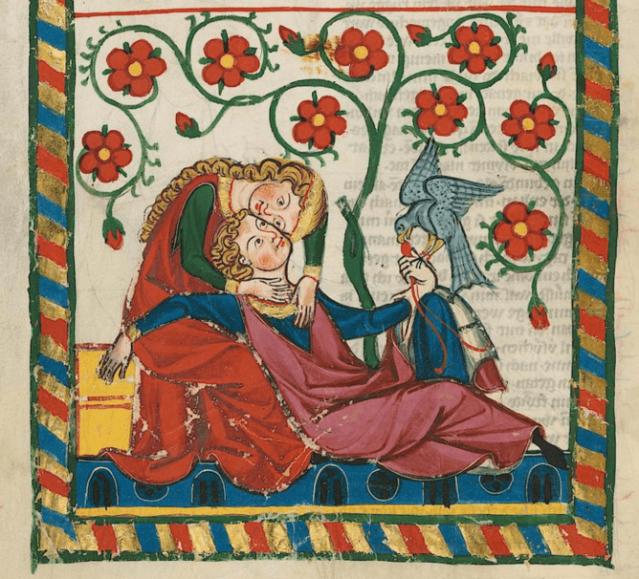 Kuva Manessen käsikirjoituksesta 1300-luvulta.