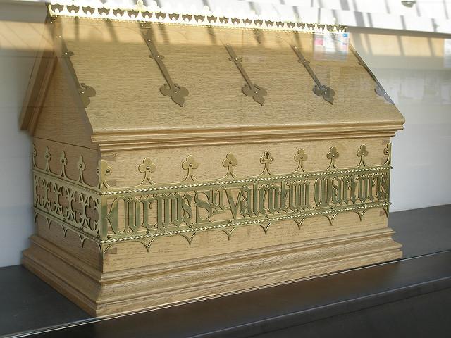 Pyhän Valentinuksen luita uskotaan olevan myös Glasgowssa, Skotlannissa.