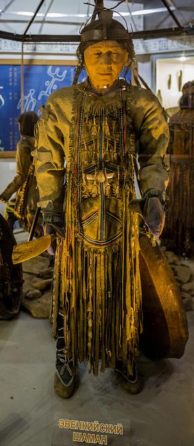 Evenki-shamaanin asu Krasnojarskin museossa Venäjällä. Kuva: Ninara/Flickr CC.