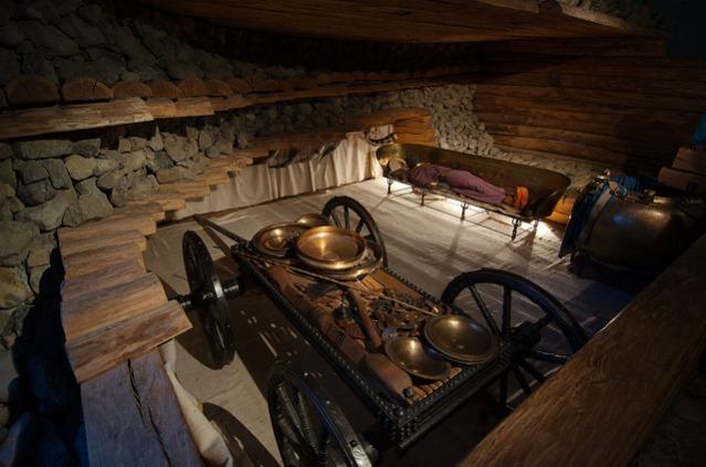 Hochdorfin hautakummun rekonstruktio. Kuva: Magnus Hagdorn/Flickr CC.