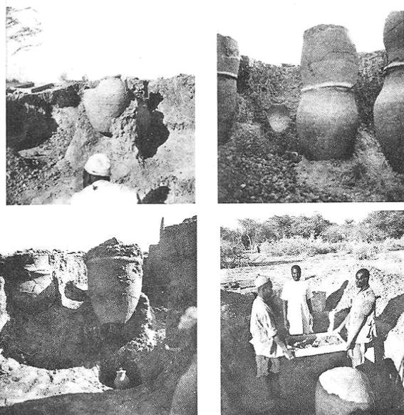 Ruukkuhautauksia Saon ja Midiguén kalmistoissa. Kuvat: Lebeuf 1962.