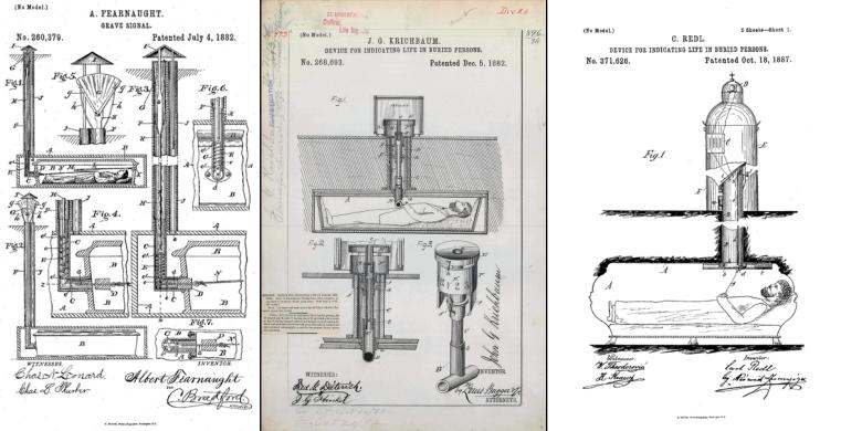 Erilaisten turva-arkkujen patentteja.