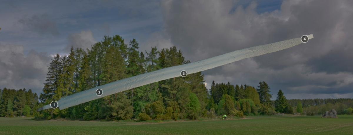 3D-malli Valkeakosken Haukilan kalmiston miekkalöydöstä